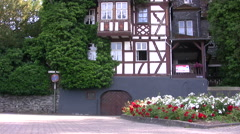 Traditional styled house in Boppard near the Rhine river Stock Footage
