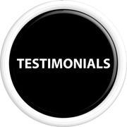 Button testimonials - stock illustration
