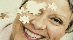 A puzzle with the image of a woman, Sweden. Stock Footage
