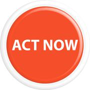 Button act now - stock illustration