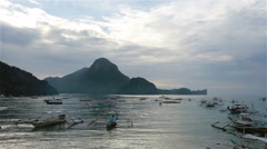 Sunset over the beach in El Nido Stock Footage