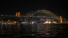 sydney harbour vivid timelapse - stock footage
