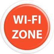 Button wi-fi zone - stock illustration