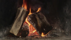 Fireplace, Sweden. Stock Footage