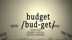 Definition: Budget Stock Footage