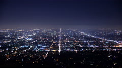 4K Los Angeles City Grids Timelapse 01 Stock Footage