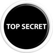 Button top secret - stock illustration
