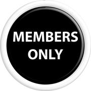 Button members only Stock Illustration