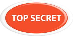Button top secret - stock illustration