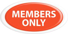 Button members only - stock illustration