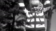 A girl skipping, Sweden. Stock Footage
