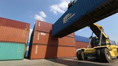 Logistics. Crane. Container. Stock Footage