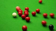 Game of snooker Stock Footage