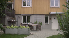 A rushed man leaving home for work, Sweden. Stock Footage