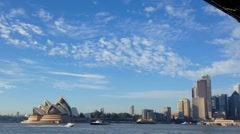 On a boat towards Sydney City time lapse Stock Footage