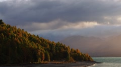 Lake Tekapo in Autumn Stock Footage