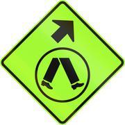 Pedestrian Crossing Ahead on Side Road in Australia - stock illustration