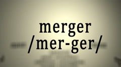 Definition: Merger Stock Footage