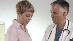 Doctor and patient. Stock Footage