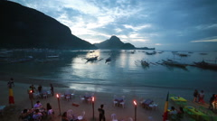 El Nido Beach Bars Stock Footage