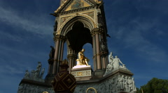 The Albert Memorial in London in 4K - wide shot with track - stock footage