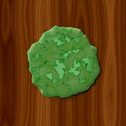 Green rotten slime on wood background - stock illustration