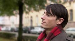 Portrait of a man, Sweden. Stock Footage