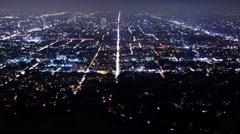 4K Los Angeles City Grids Timelapse 04 Tilt Up Stock Footage
