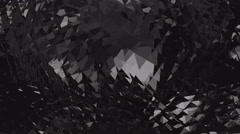 Black edgy loopable background Stock Footage