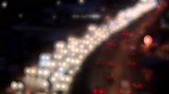 Traffic by night, Stockholm, Sweden. Stock Footage