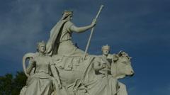 The Albert Memorial in London in 4K - mid shot pan Stock Footage