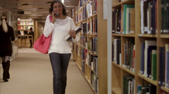 A student at the university, Stockholm, Sweden. - stock footage