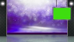 Entertainment TV Studio Set 28 - Virtual Green Screen Background Loop Stock Footage