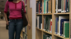A student at the university, Stockholm, Sweden. Stock Footage