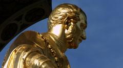 The Albert Memorial in London in 4K - close up tilt Stock Footage