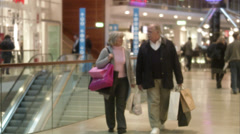 A senior couple window-shopping, Stockholm, Sweden. Stock Footage