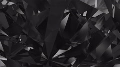 Black diamond background Stock Footage