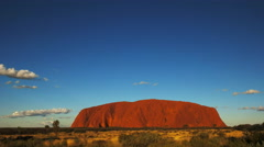 Uluru wide angle pan Stock Footage