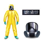 Biohazard Protective Suit Stock Illustration