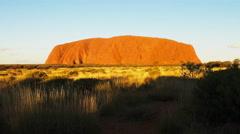Uluru sunset zoom Stock Footage