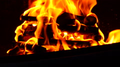 Burning fire  - Close up / Time lapse Stock Footage