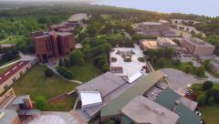 Looking Over University of Wisconsin Green Bay Campus. Stock Footage