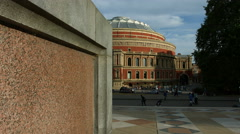 The Albert Hall in London in 4K - wide shot track Stock Footage