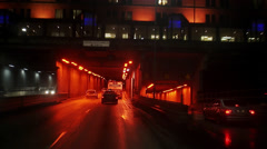 Traffic in a city, Stockholm, Sweden. Stock Footage