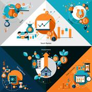 Investment Corners Set Stock Illustration
