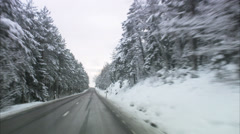 A country road in the winter, Sweden. Stock Footage