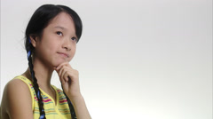 A girl looking thoughtful. Stock Footage