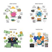 Stock Illustration of Finance Decorative Icons Set