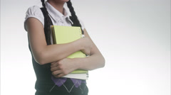 Portrait of a schoolgirl. Stock Footage