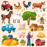 Stock Illustration of Farm Icon Set